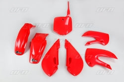 Red Plastic Kit - UFO - 2002-2009 KLX110 & DRZ110 - The Best Minimoto, Pitbike, Minibike Source - Factory Minibikes