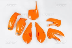 KTM Orange Plastic Kit - UFO - 2002-2009 KLX110 & DRZ110 - The Best Minimoto, Pitbike, Minibike Source - Factory Minibikes