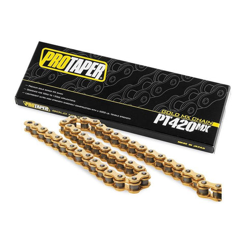 Pro Taper 420 Gold Chain 134 Links - PT420MX - The Best Minimoto, Pitbike, Minibike Source - Factory Minibikes