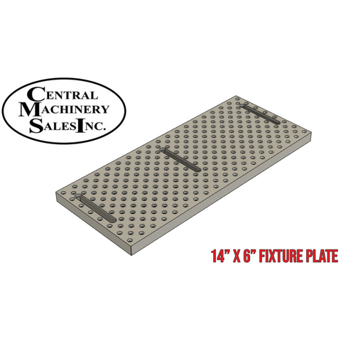 Central Machinery 2-Speed Benchtop Milling Machine Aluminum Fixture Tooling Plate