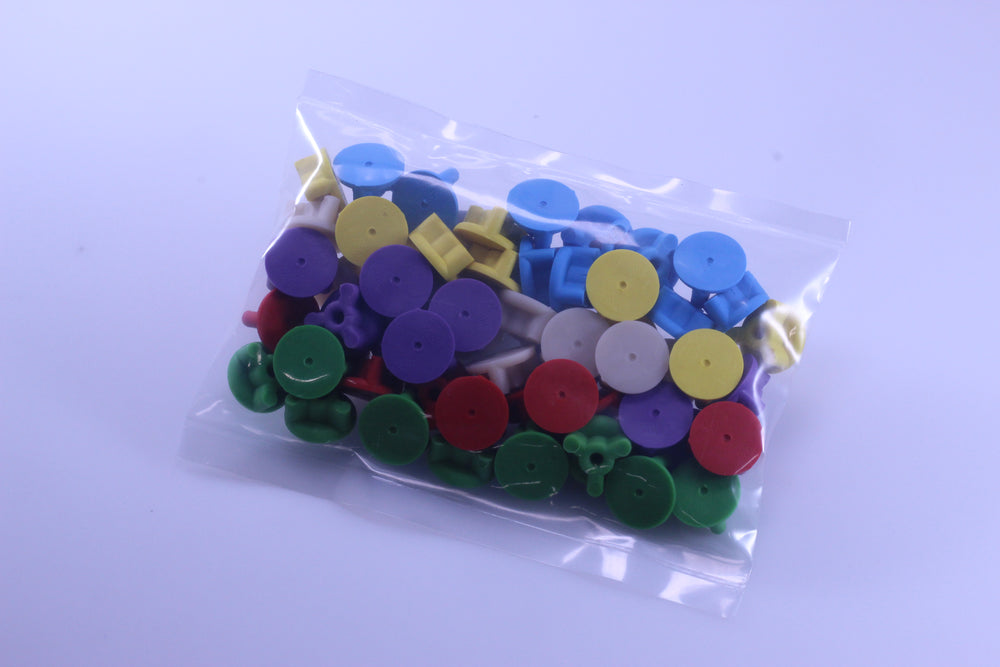 Multi-color Fixture Plate Plugs - 6 Colors x 10 Each