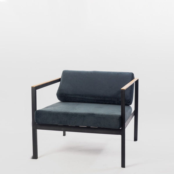 Batini Midnight Blue Velvet Chair