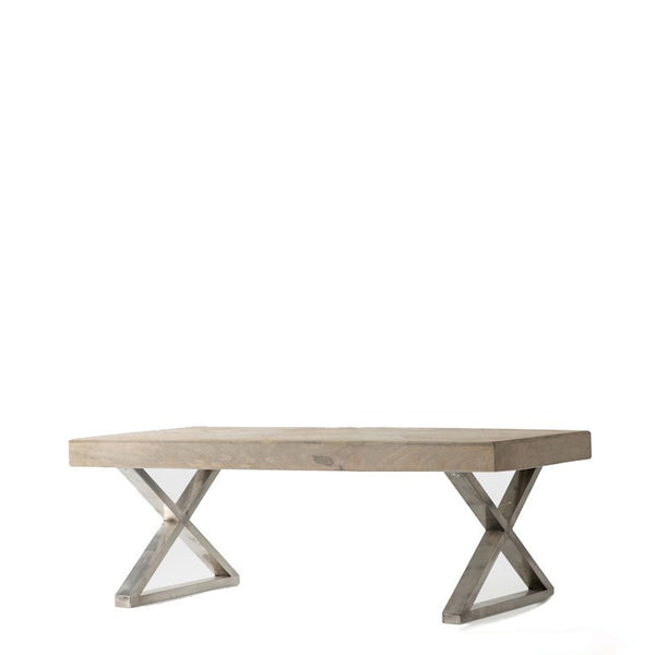 Blond Chevron Parquetry Coffee Table