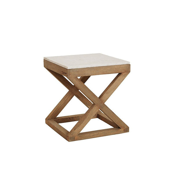 Maine Marble Top Side Table