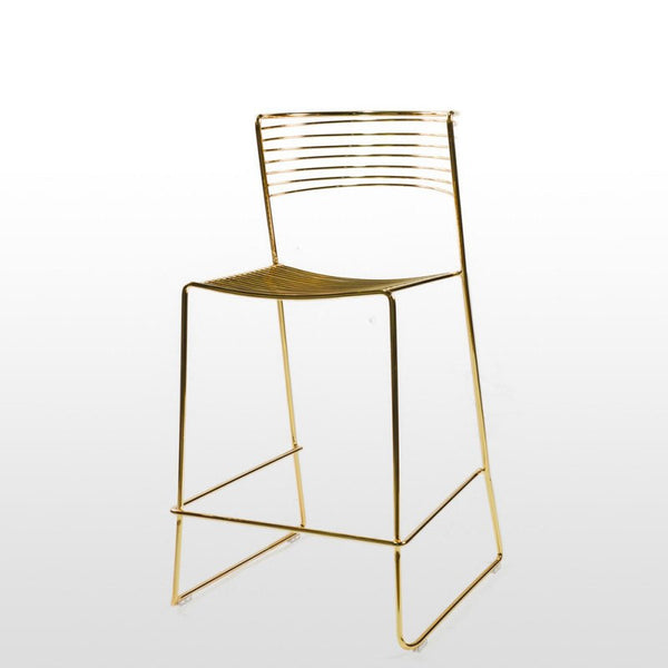 Mica Gold Metal Counter Stool