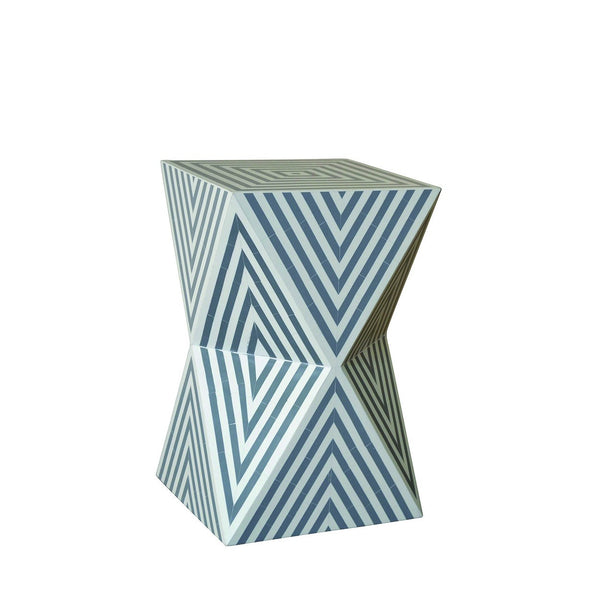 Geometric Bone & Resin Side Table