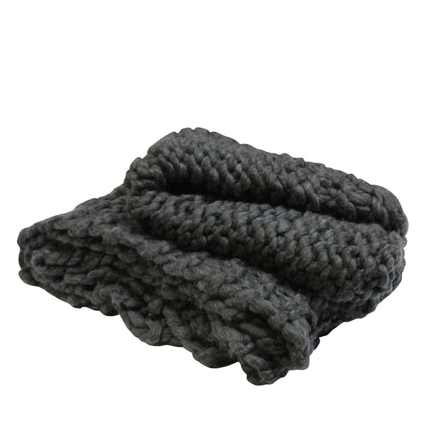Chunky Throw Charcoal