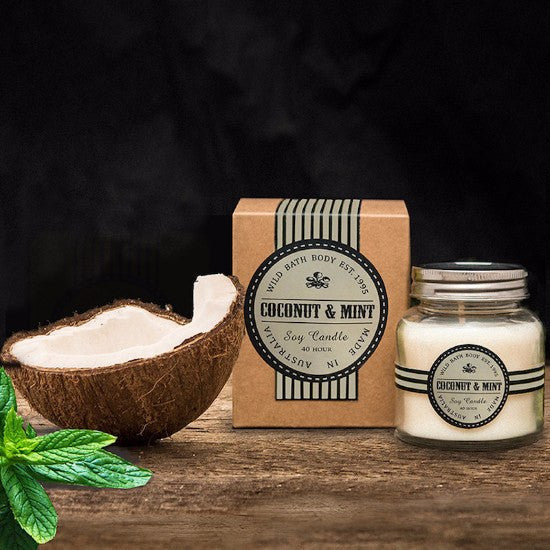 Wild Bath Body - Coconut & Mint Soy Candle