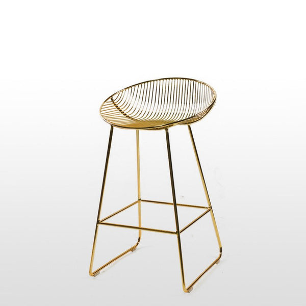 Zanta Gold Metal Counter Stool