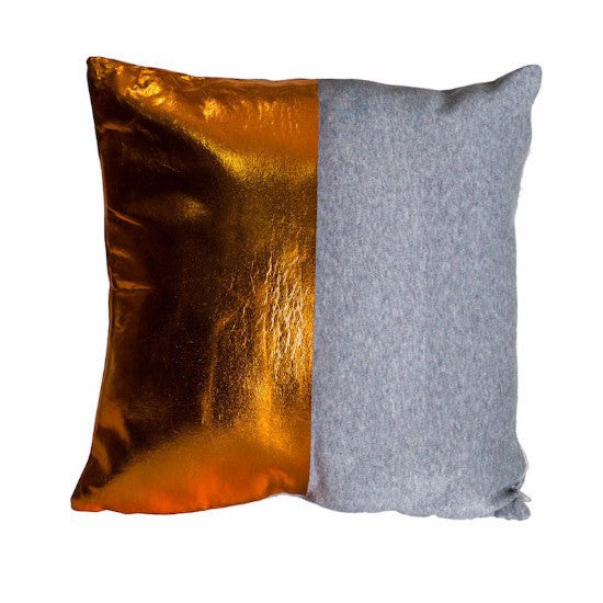 Grey & Copper Cushion