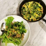 Kale and Mushroom Omelette - Dairy Free