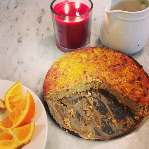 FLOURLESS, SUGARLESS ORANGE CAKE