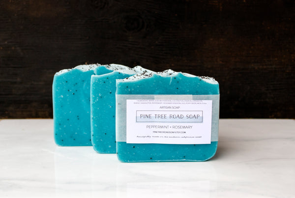 PEPPERMINT ROSEMARY BAR SOAP