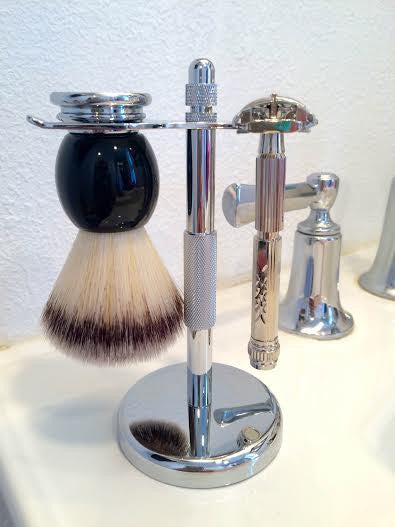 CHROME SHAVE STAND