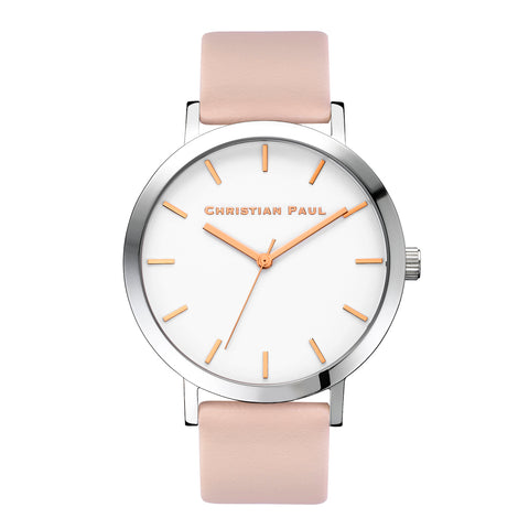 Raw 43mm Silver/Peach by Christian Paul Watches