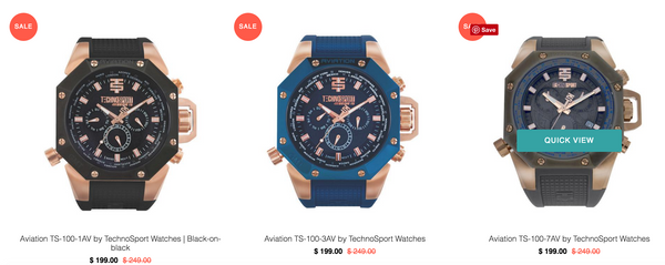 Black Friday Sale TechnoSport Watches 101.Watch Store