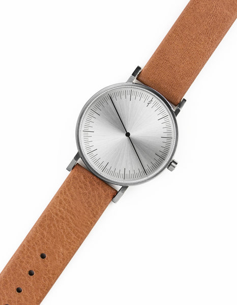 Simpl Watch Silver Tan on stock at 101.watch free shipping within US