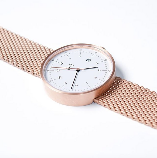 iKi Rose Gold Mesh Strap 101.Watch Store USA