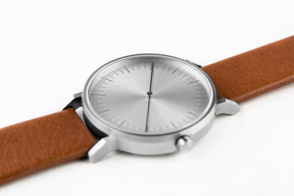 Simpl Watch Silver Tan on stock at 101.watch - free shipping