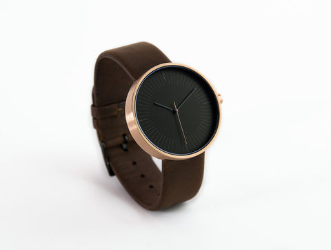 Amber Dark Brown by Simpl Watch