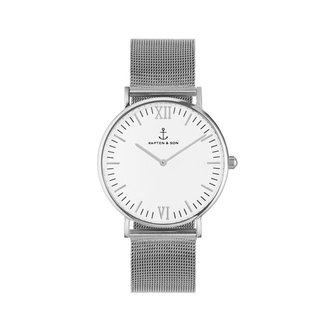 Silver Mesh Campina by Kapten And Son Watches