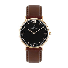 Black Brown Leather Campus by Kapten And Son Watches