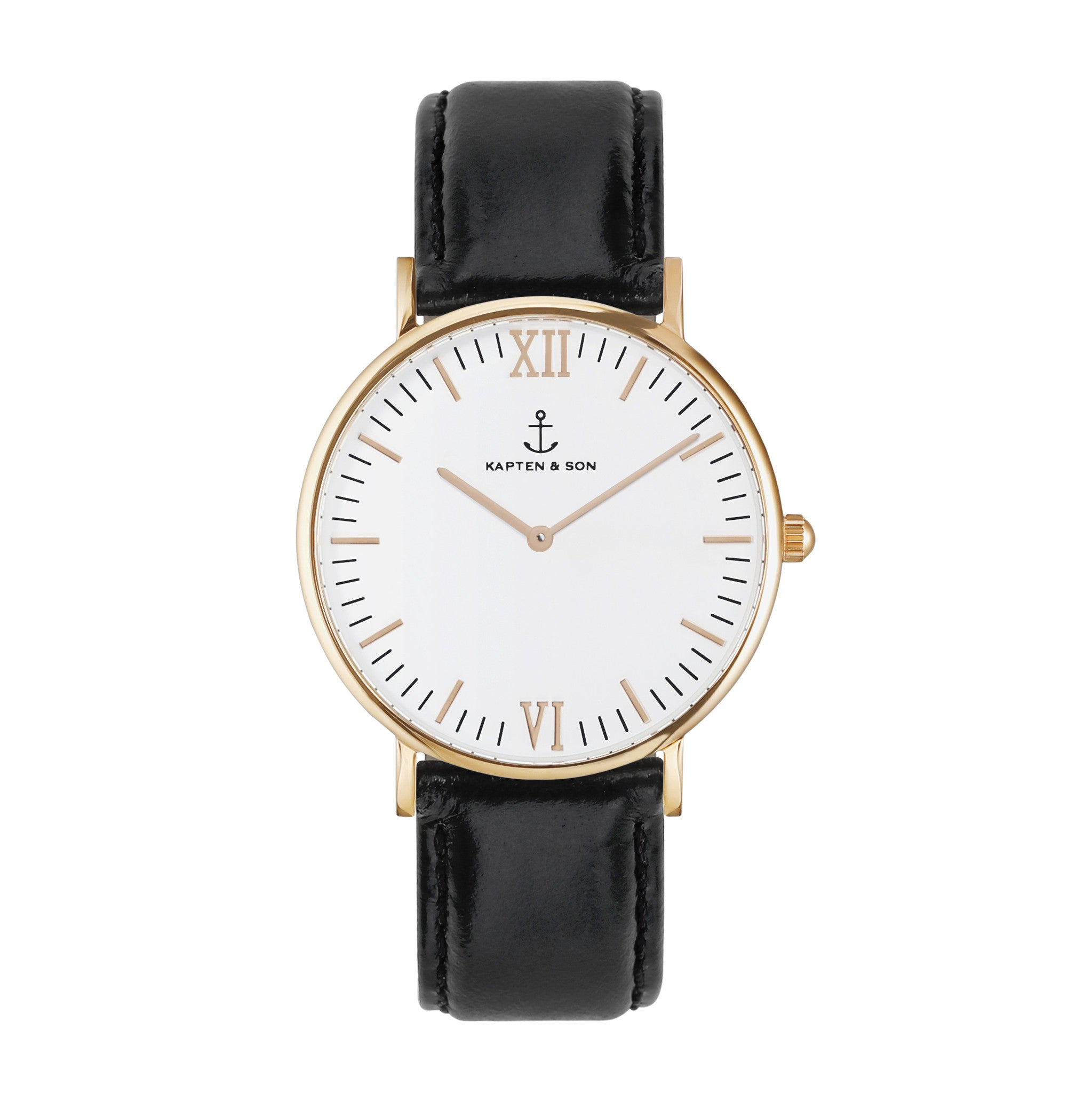 Black Leather Campus by Kapten And Son Watches