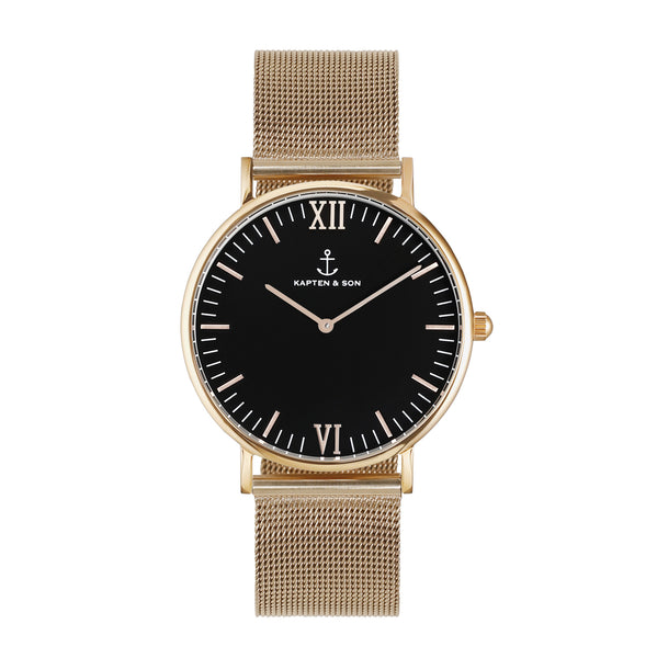 Black Mesh Campus by Kapten And Son Watches