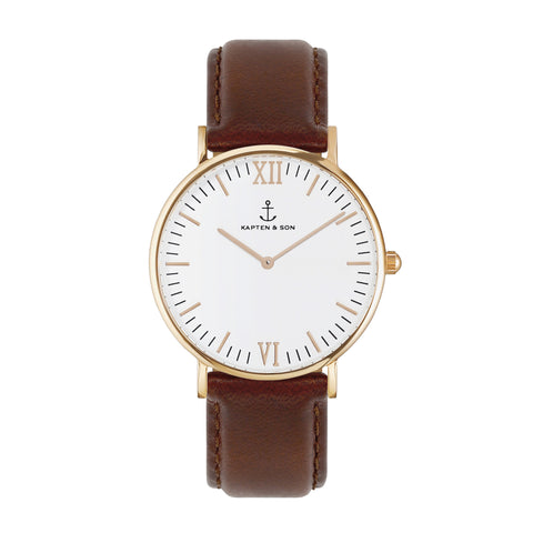 Brown Leather Campus by Kapten And Son Watches