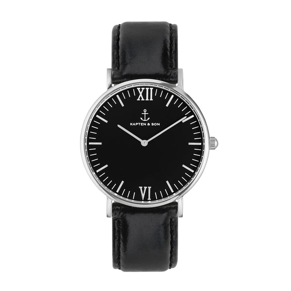 Silver All Black Campus by Kapten And Son Watches