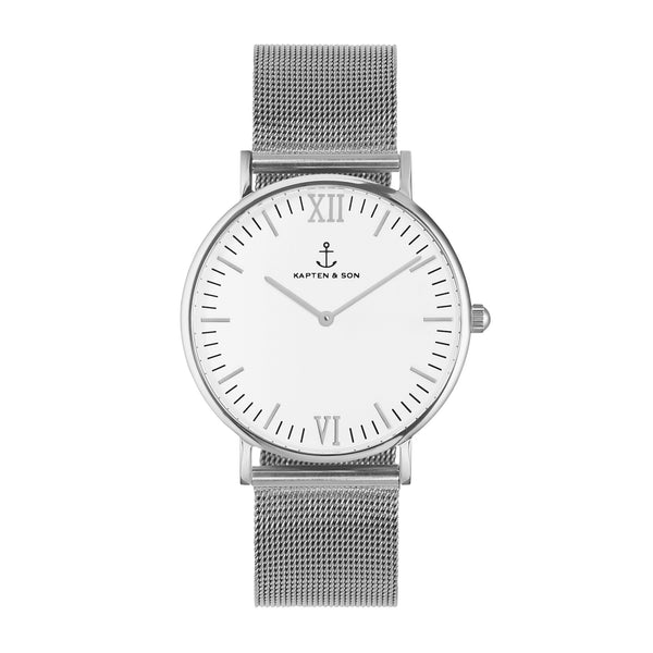 Silver Mesh Campus by Kapten And Son Watches