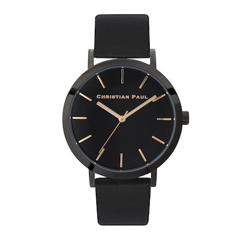 Raw 43mm Black/Black/Black by Christian Paul Watches