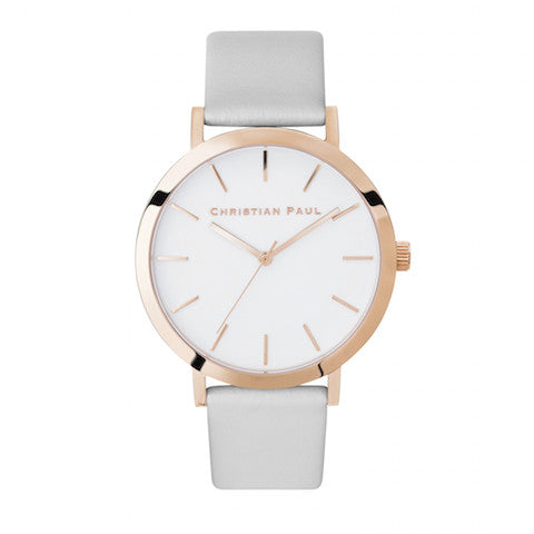 Christian Paul Watch Raw 43mm Rose Gold/Grey