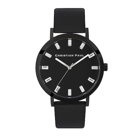 The Strand Luxe 43mm by Christian Paul Watches | Black-on-black