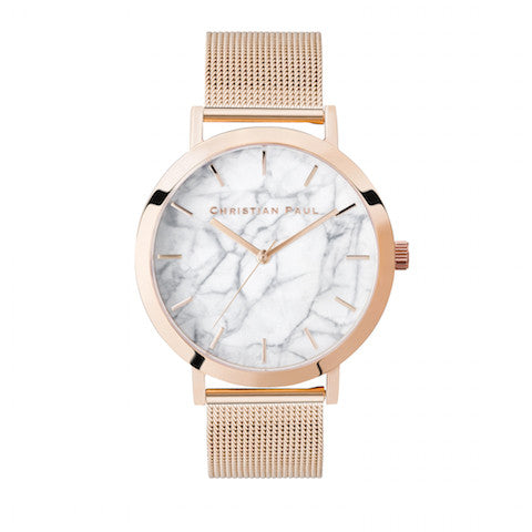 Whitehaven Marble Mesh 43mm by Christian Paul Watches