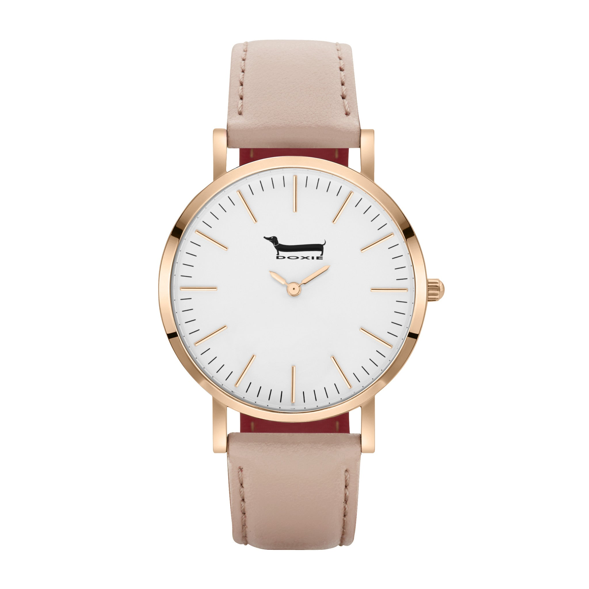 just products mink dial display face peach rose strap piece white vintage watches modern tangy