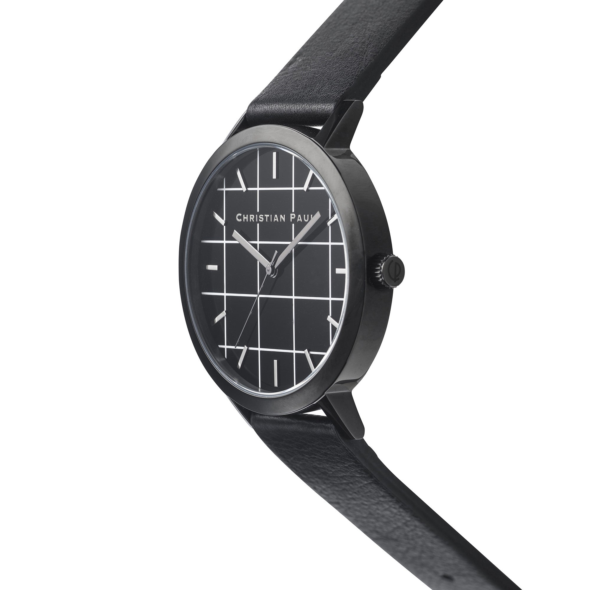Christian Paul Watch The Strand Grid 43mm  / Black on Black