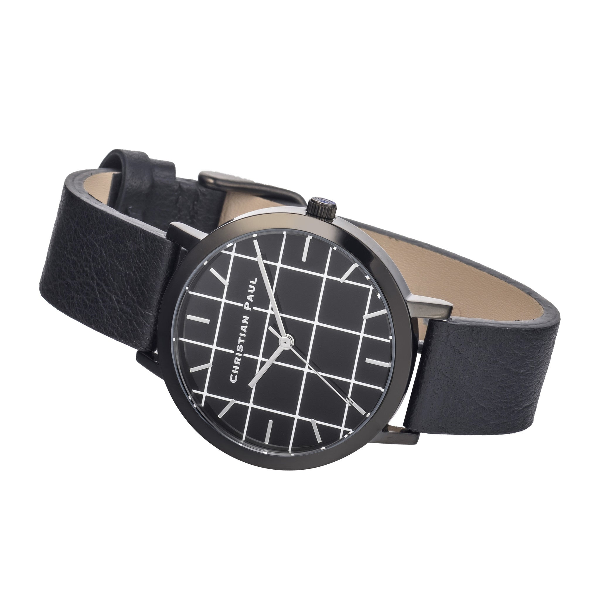 Christian Paul Watch The Strand Grid 35mm / Black on Black