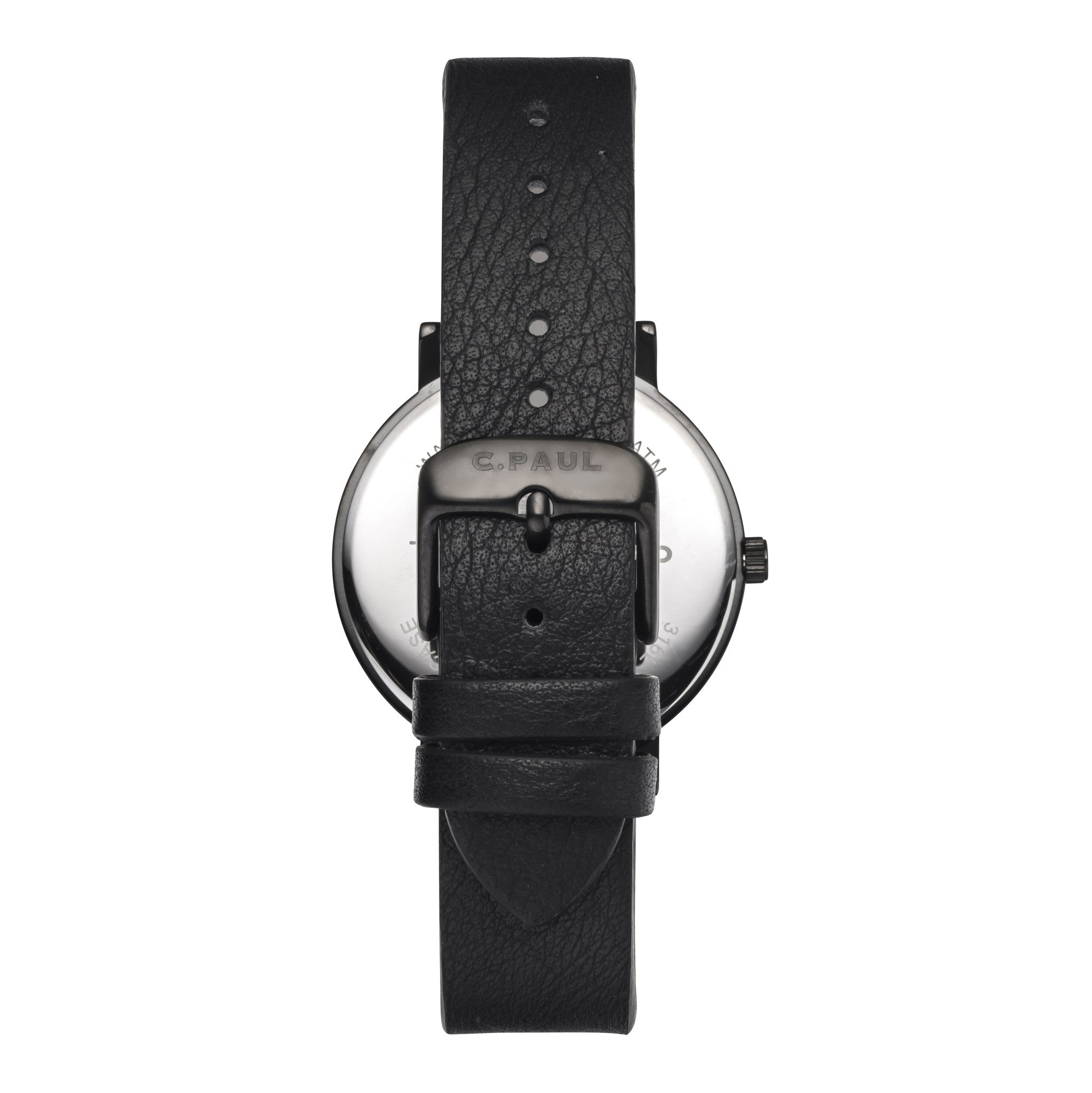 Christian Paul Watch The Strand Marble 35mm / Black on Black