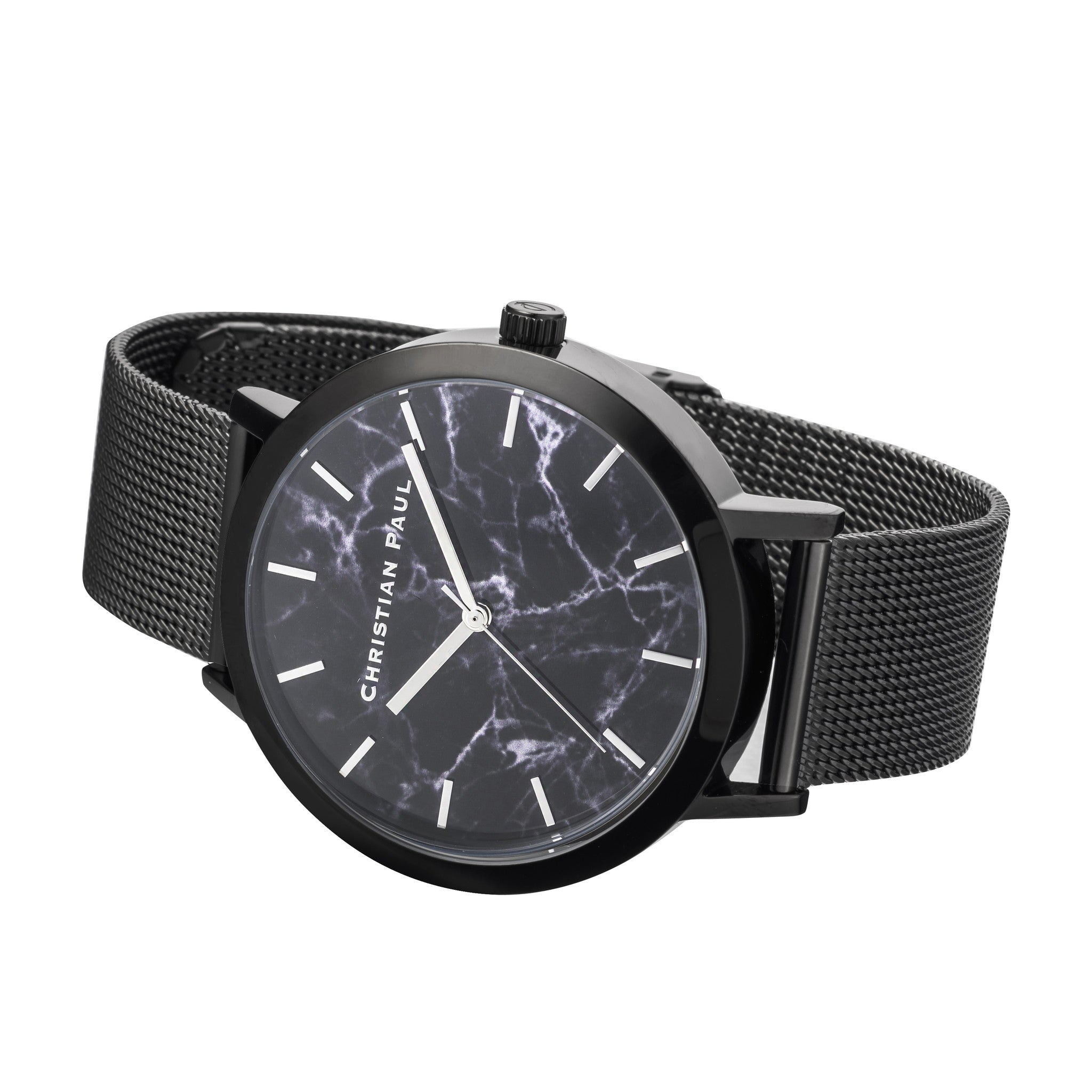 Christian Paul Watch The Strand Marble Mesh 43mm / Black on Black | 101.Watch