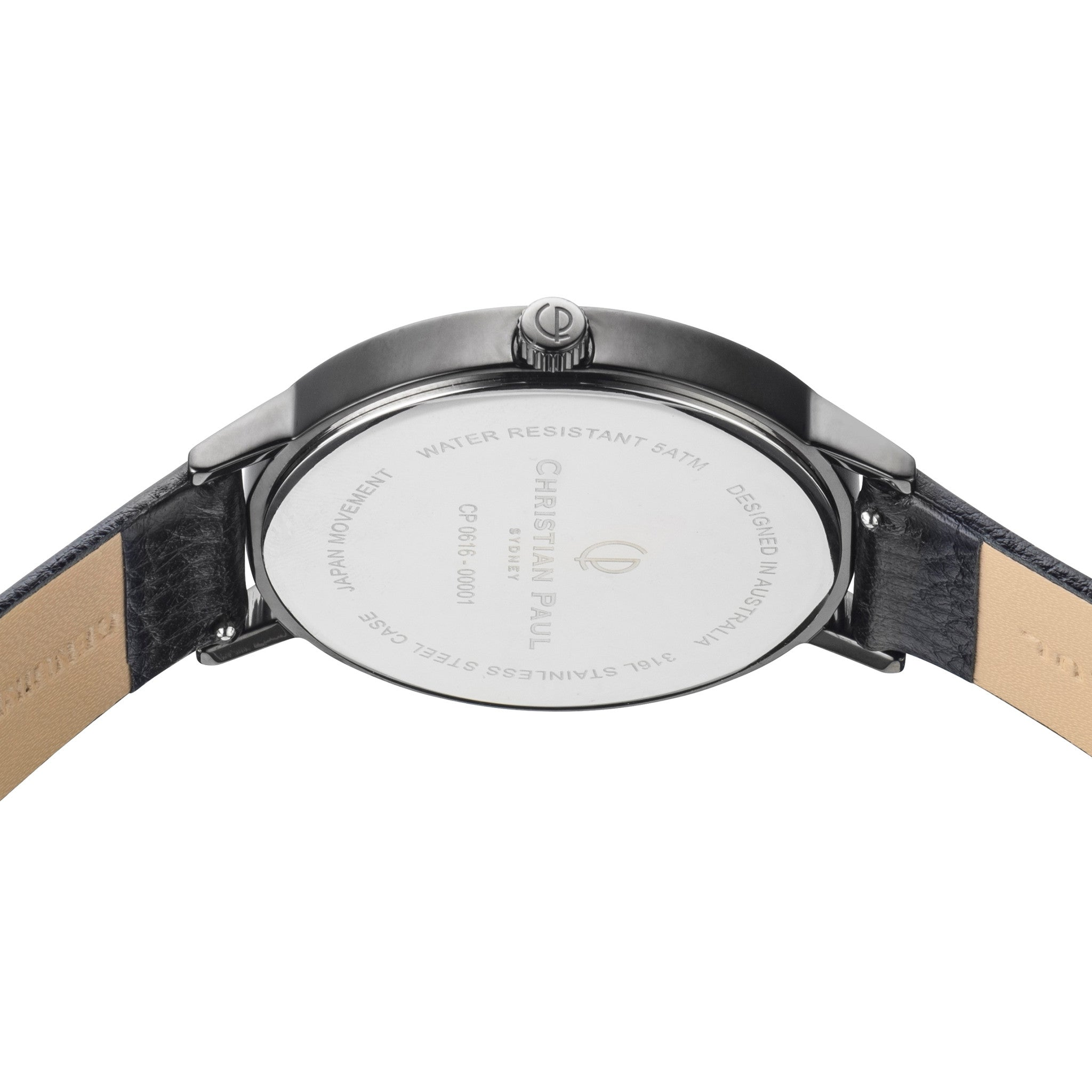 Christian Paul Watch Raw 43mm Black/Black/White
