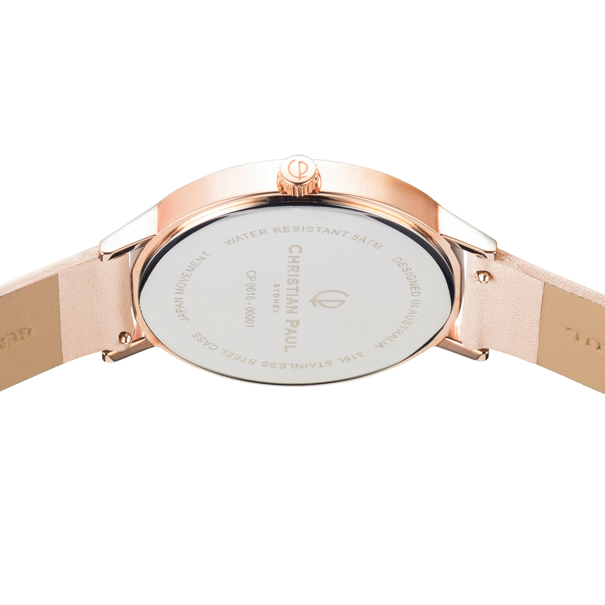 spring watches rose leather and gold peach pin