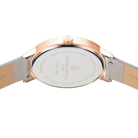 Raw 43mm Rose Gold/Grey by Christian Paul Watches
