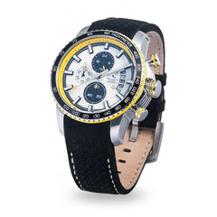 Strumento Marino Freedom Yellow & Black Leather Strap Chrono Diver Watch | 101.Watch