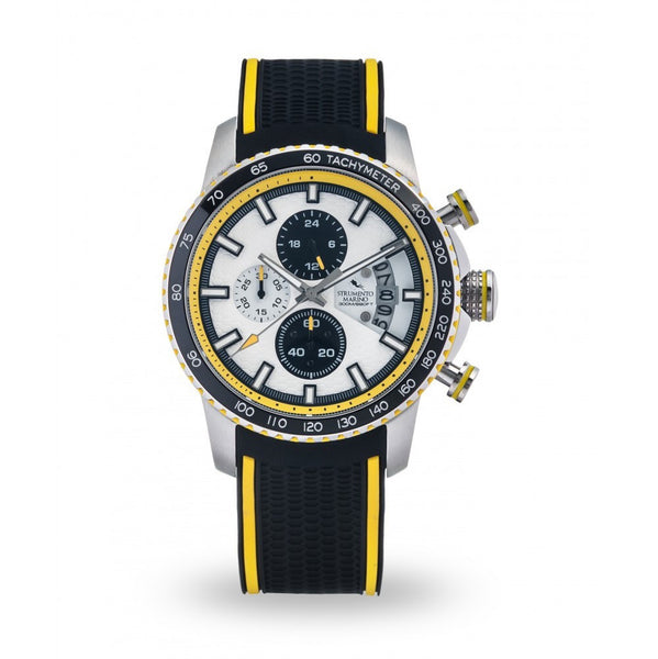 Strumento Marino Freedom Yellow & Black Silicone Strap Chrono Diver Watch