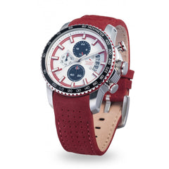 Strumento Marino Freedom White & Red Leather Strap Chrono Diver Watch | 101.Watch
