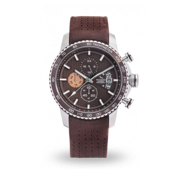 Strumento Marino Freedom Brown Leather Strap Chrono Diver Watch