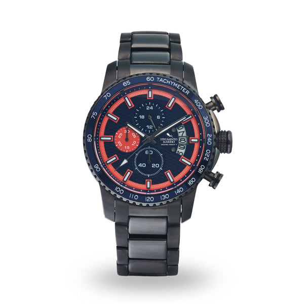Strumento Marino Freedom Orange & Blue Metal Strap Chrono Diver Watch