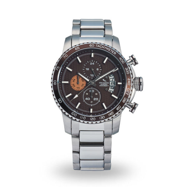 Strumento Marino Freedom Brown Metal Strap Chrono Diver Watch