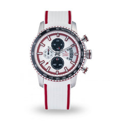 Strumento Marino Freedom Red & White Silicone Strap Chrono Diver Watch | 101.Watch